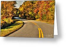 Blue Star Highway In Fall Greeting Card