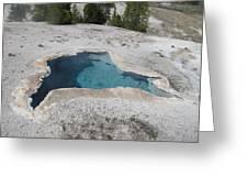 Blue Star Yellowstone Greeting Card