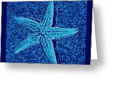 Blue Starfish - Digital Art Greeting Card