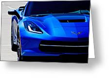 Blue Stingray Greeting Card
