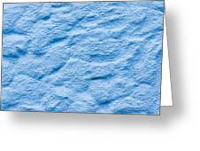 Blue Stone Background Greeting Card