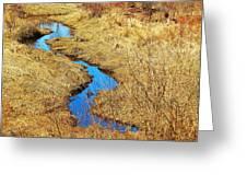 Blue Stream Greeting Card