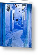 Blue Street Greeting Card