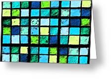 Blue Sudoku Greeting Card