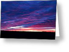 Blue Sunrise In West Texas Greeting Card