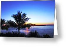 Blue Sunrise Greeting Card