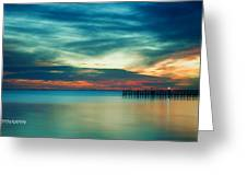 Blue Sunset Greeting Card by Christopher Blake