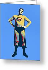 Blue Superman Greeting Card