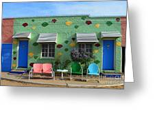 Blue Swallow Motel In Tucumcari In New Mexico Greeting Card