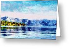 Blue Tahoe Greeting Card