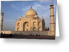 Taj Mahal In Evening Light Greeting Card