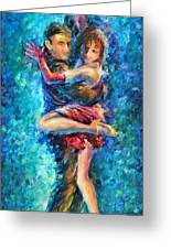 Blue Tango 1 Greeting Card