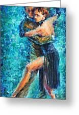 Blue Tango 2 Greeting Card