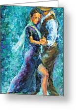 Blue Tango 3 Greeting Card