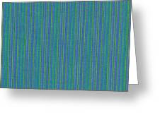 Blue Teal And Yellow Striped Textile Background Greeting Card