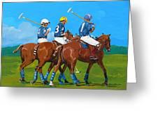Blue Team Greeting Card
