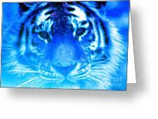Blue Tiger Greeting Card