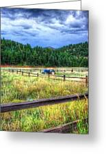 Blue Tractor Deckers Colorado Greeting Card