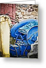 Blue Tractor Greeting Card