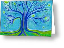 Blue Tree Sky By Jrr Greeting Card