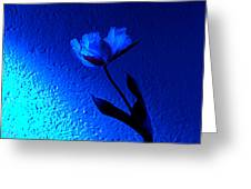 Blue Tulip Greeting Card