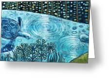 Blue Turtles Greeting Card