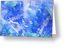 Blue Twirl Abstract Greeting Card