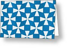 Blue Twirl Greeting Card by Linda Woods
