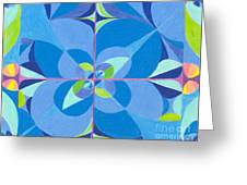 Blue Unity Greeting Card
