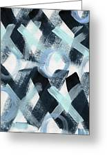 Blue Valentine- Abstract Painting Greeting Card