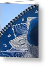 Blue Velvet Sombrero Cozumel Mexico Greeting Card