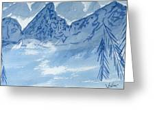 Blue View #2 Greeting Card
