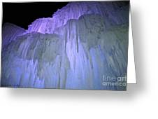 Blue Violet Ice Mountain Greeting Card