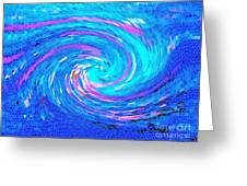 Blue Vortex Abstract 2 Intense Greeting Card