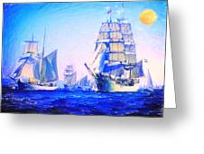 Blue Voyage To Serenity Greeting Card