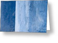 Blue Wall 01 Greeting Card