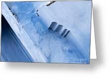 Blue Wall 03 Greeting Card