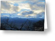 Blue Wall Clouds 4 Greeting Card