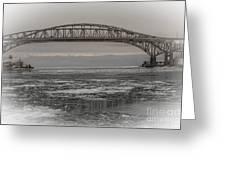 Blue Water Bridges Greeting Card