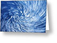 Blue Water Twister Abstract Greeting Card