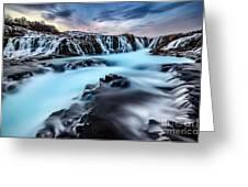 Blue Waterfalls Greeting Card