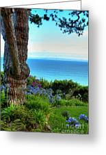 Blue Waters In Palos Verdes California Greeting Card