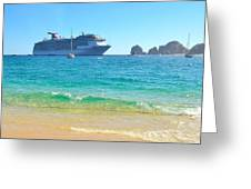 Blue Waters Of Cabo Greeting Card