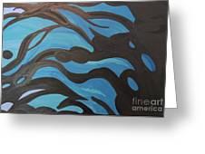 Blue Waves Of Healing Greeting Card