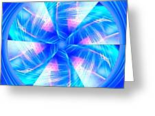 Blue Wheel Inflamed Abstract Greeting Card