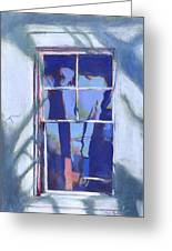Blue Window Greeting Card