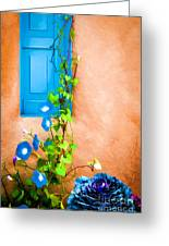 Blue Window - Painted Greeting Card