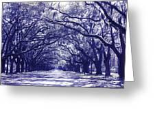 Blue World In Savannah Greeting Card