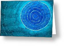 Blue World Original Painting Greeting Card