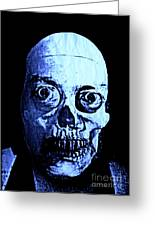Blue Zombie Greeting Card